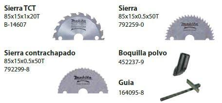 Discos y accesorios para Mini sierra circular Makita