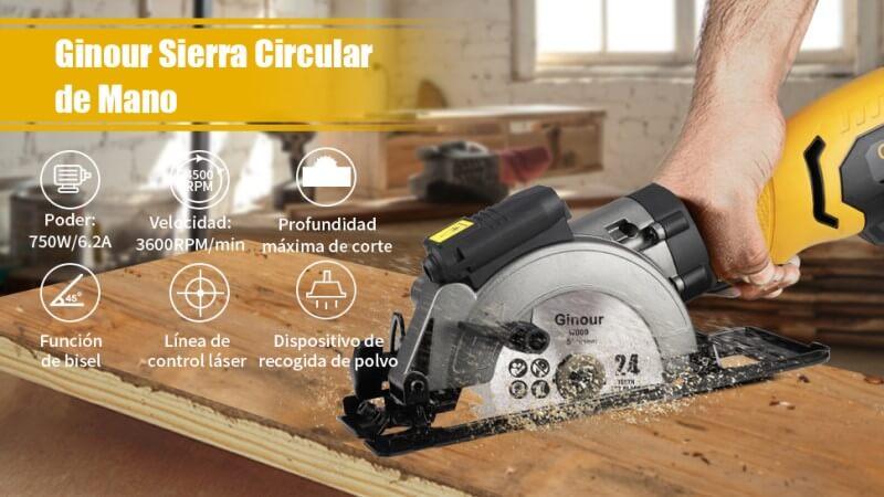 caracteristicas mini sierra ginour 750