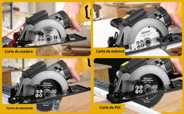 tipos de cortes mini sierra ginour 750