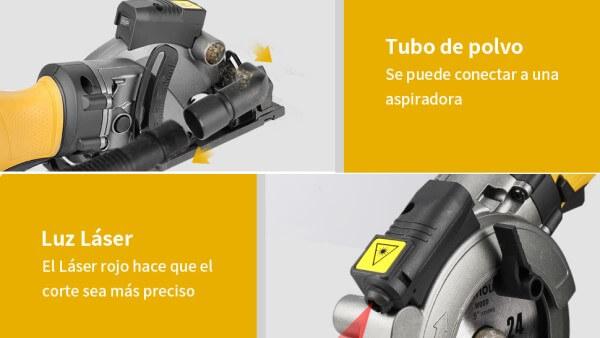 guia laser minisierra circular Ginour